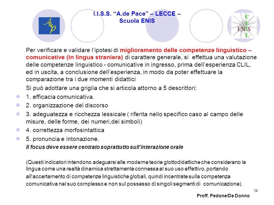 Per verificare e validare lipotesi di miglioramento delle competenze linguistico – comunicative (in lingua straniera) di carattere generale, si effett