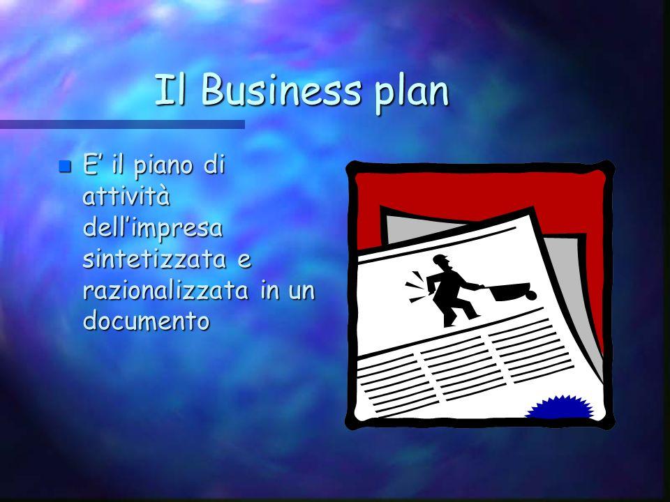 La Business idea n E n E lattività da svolgere valutata attraverso il piano dimpresa