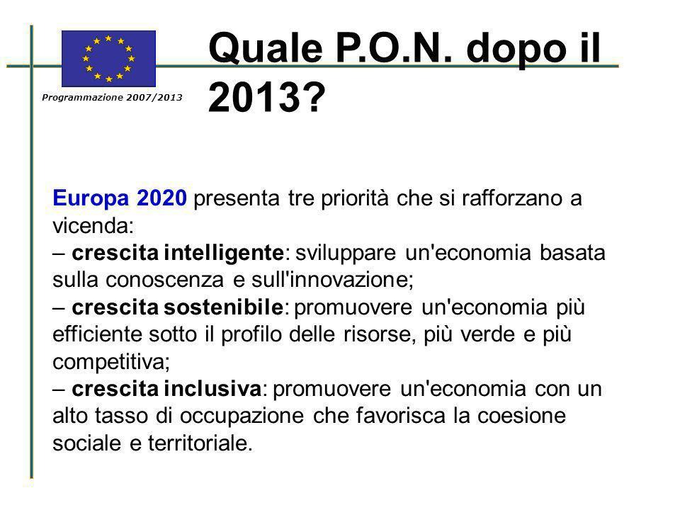 Europa 2020 presenta tre priorità che si rafforzano a vicenda: – crescita intelligente: sviluppare un'economia basata sulla conoscenza e sull'innovazi