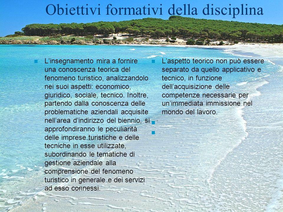 Obiettivi formativi della disciplina Linsegnamento mira a fornire una conoscenza teorica del fenomeno turistico, analizzandolo nei suoi aspetti: econo