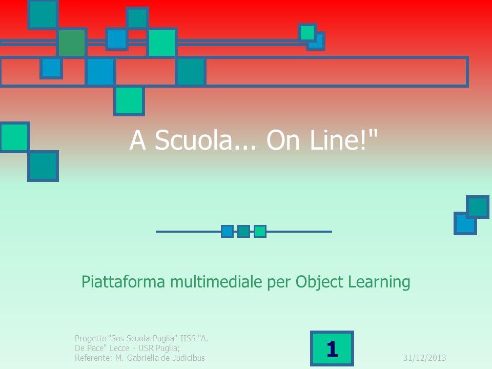 31/12/2013 2 Il Progetto di base S.O.S.Scuola Puglia è un progetto presentato durante lA.S.