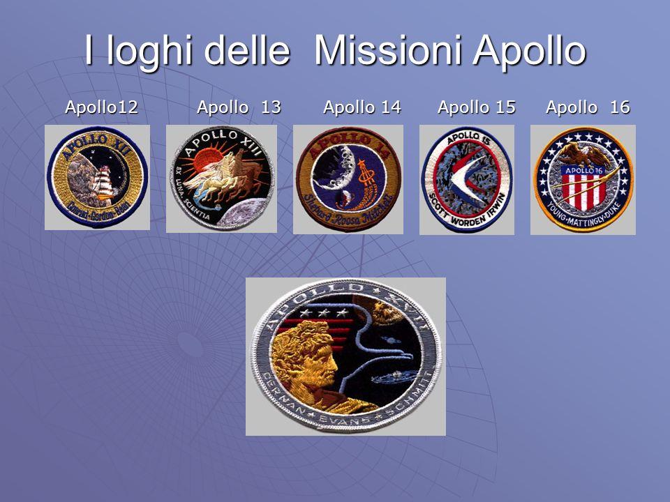 I loghi delle Missioni Apollo Apollo12 Apollo 13 Apollo 14 Apollo 15 Apollo 16 Apollo12 Apollo 13 Apollo 14 Apollo 15 Apollo 16
