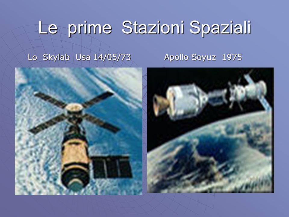 Le prime Stazioni Spaziali Lo Skylab Usa 14/05/73 Lo Skylab Usa 14/05/73 Apollo Soyuz 1975 Apollo Soyuz 1975