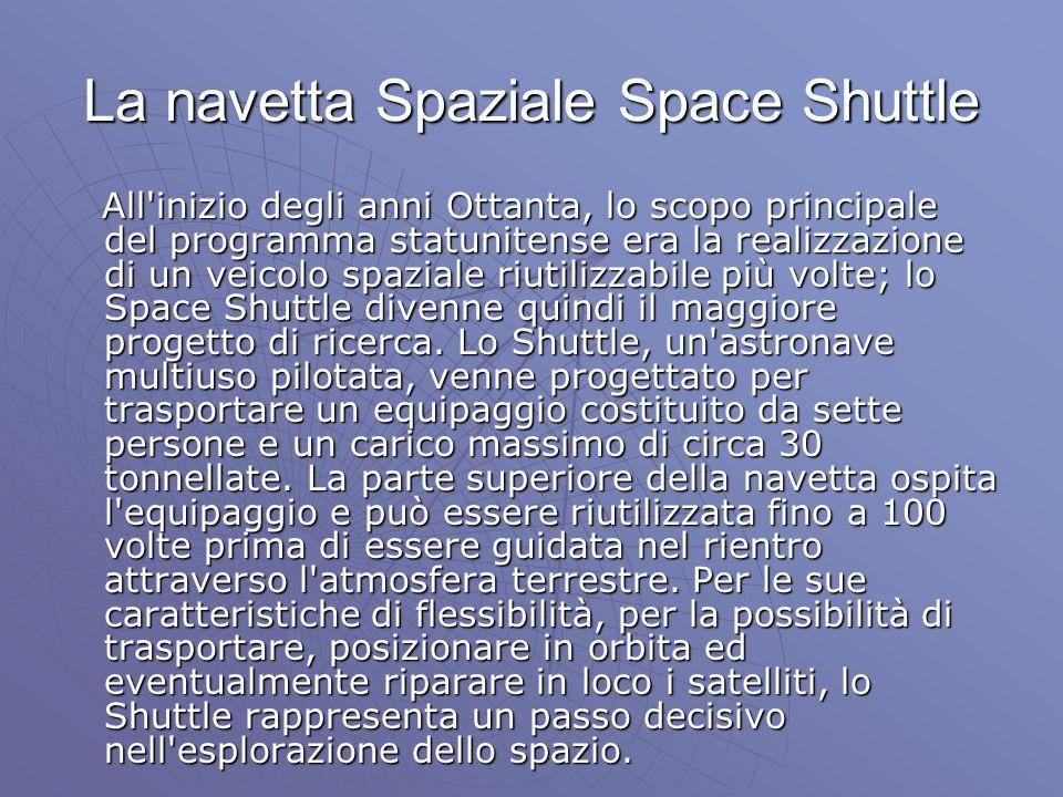 La navetta Spaziale Space Shuttle All'inizio degli anni Ottanta, lo scopo principale del programma statunitense era la realizzazione di un veicolo spa