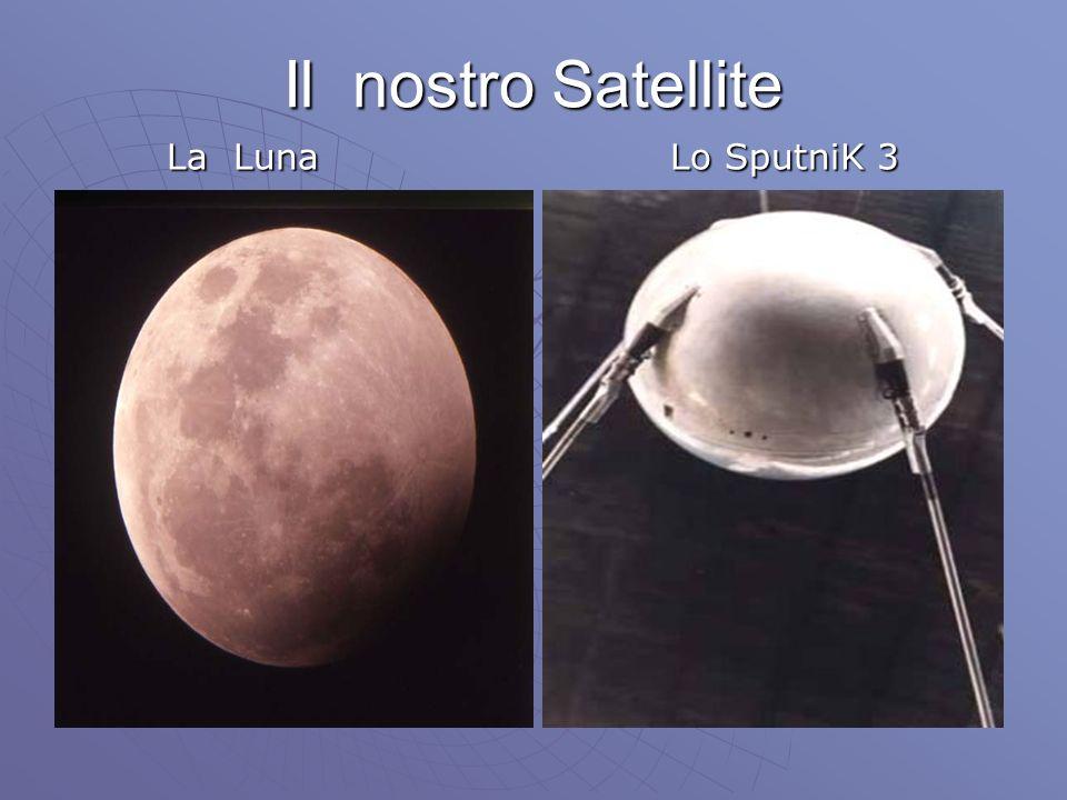 Il nostro Satellite La Luna La Luna Lo SputniK 3 Lo SputniK 3