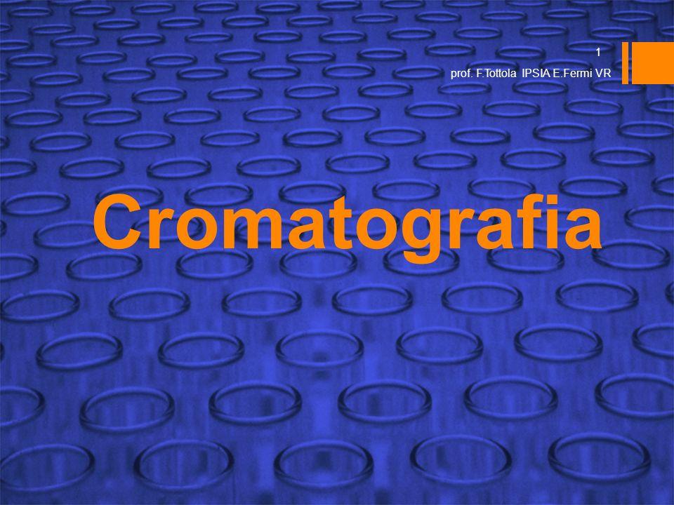 Cromatografia 1 prof. F.Tottola IPSIA E.Fermi VR