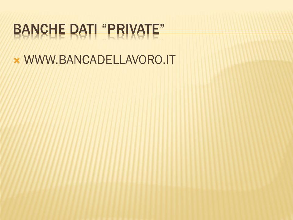 WWW.BANCADELLAVORO.IT