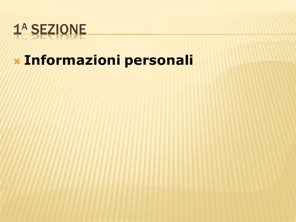 Informazioni personali