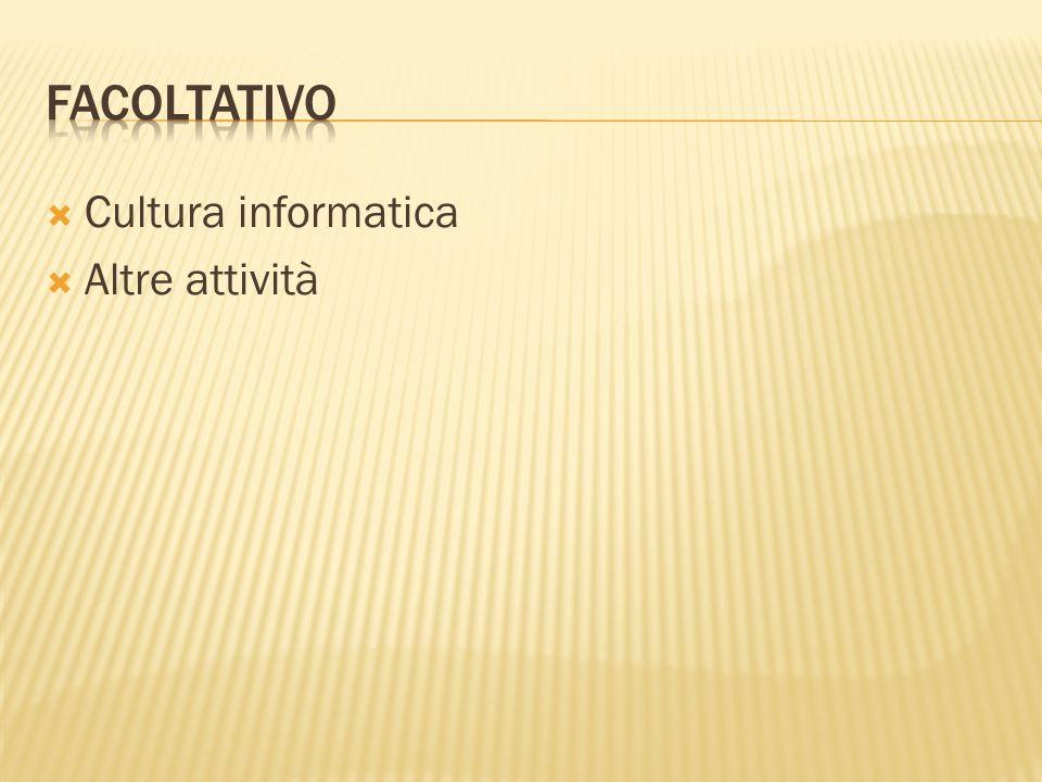 Cultura informatica Altre attività