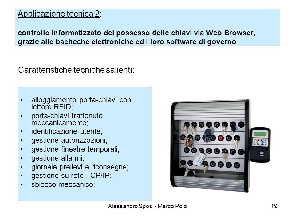 Alessandro Sposi - Marco Polo19 Applicazione tecnica 2: controllo informatizzato del possesso delle chiavi via Web Browser, grazie alle bacheche elett