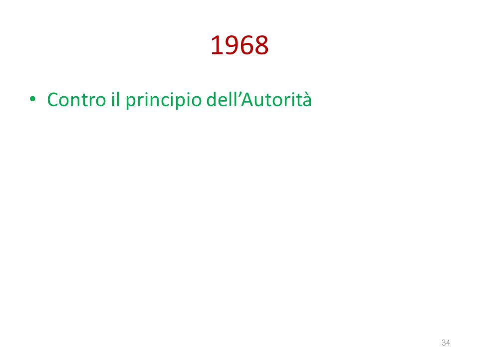 1968 Contro il principio dellAutorità 34