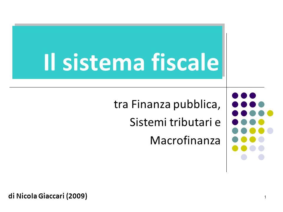 1 Il sistema fiscale tra Finanza pubblica, Sistemi tributari e Macrofinanza di Nicola Giaccari (2009)
