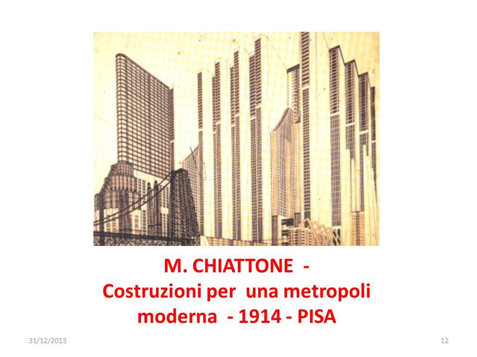 M. CHIATTONE - Costruzioni per una metropoli moderna - 1914 - PISA 31/12/201312