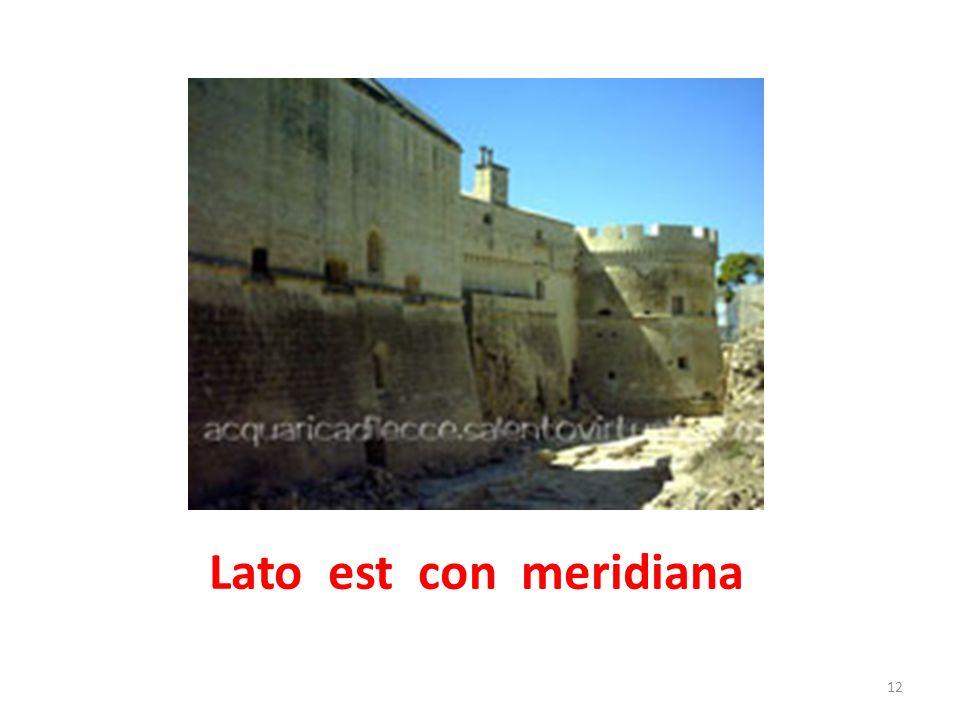 Lato est con meridiana 13