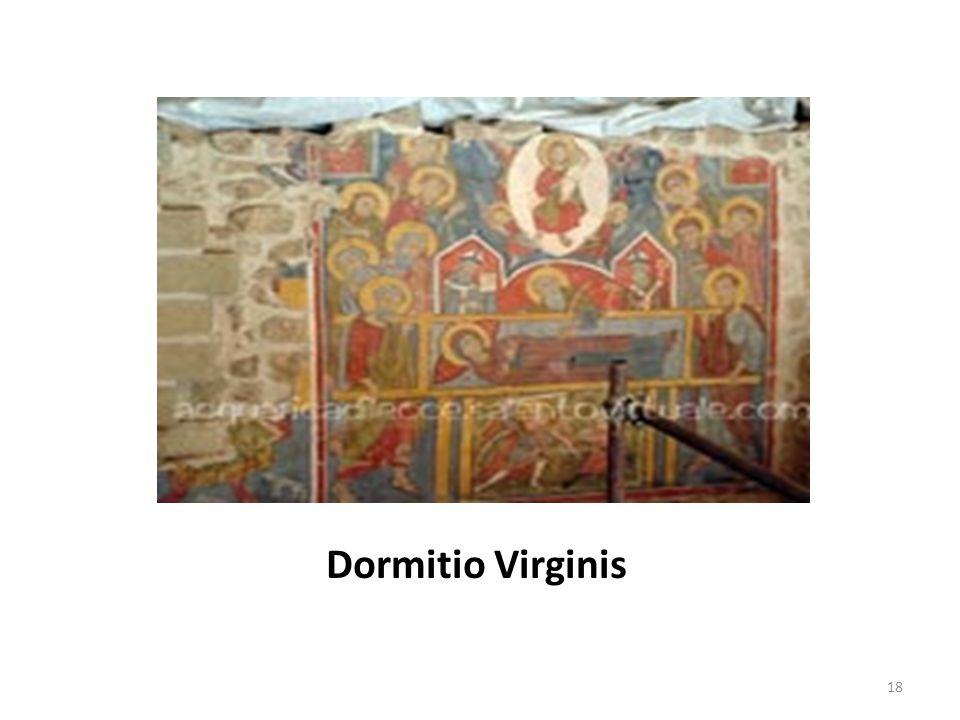 Apostoli che assistono alla morte della Vergine e Gesù che ne raccoglie l Anima e la presenta al Padre 19
