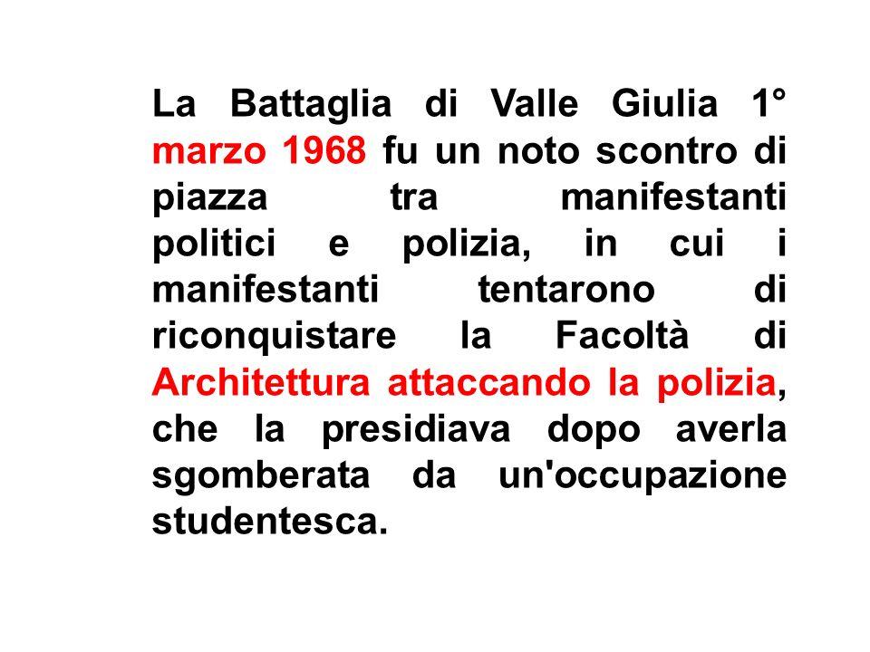 A Valle Giulia, ieri, si è cosi avuto un frammento di lotta di classe: e voi, amici (benché dalla parte della ragione) eravate i ricchi, mentre i poliziotti (che erano dalla parte del torto) erano i poveri.