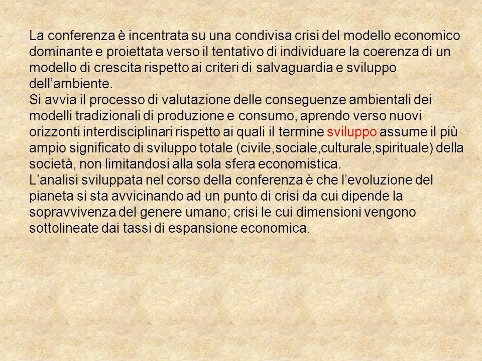 La conferenza è incentrata su una condivisa crisi del modello economico dominante e proiettata verso il tentativo di individuare la coerenza di un mod