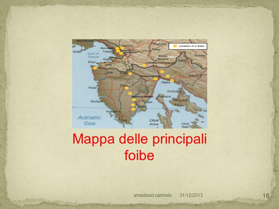31/12/2013anastasio carmelo 16 Mappa delle principali foibe