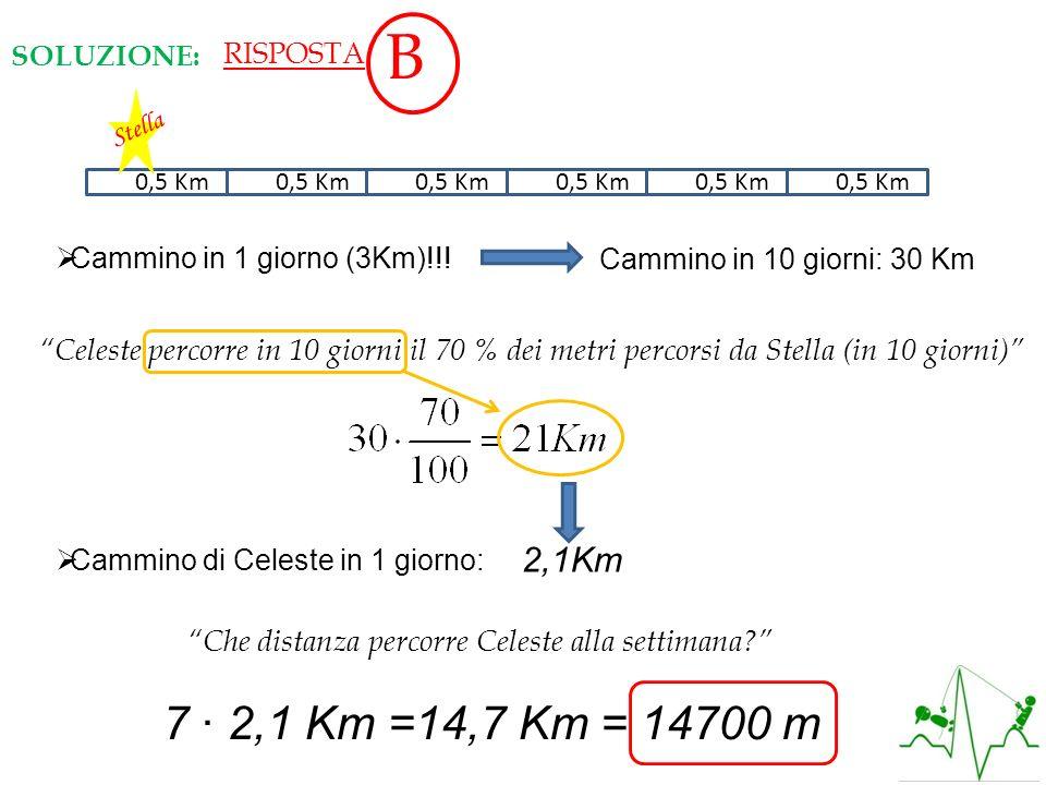 0,50,5 Km Cammino in 1 giorno (3Km)!!! Stella Cammino in 10 giorni: 30 Km Celeste percorre in 10 giorni il 70 % dei metri percorsi da Stella (in 10 gi