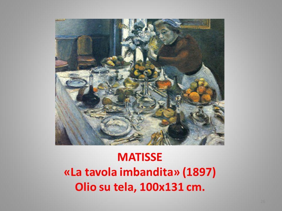 MATISSE «La tavola imbandita» (1897) Olio su tela, 100x131 cm. 26