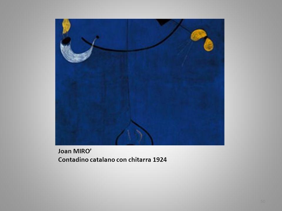 Joan MIRO Contadino catalano con chitarra 1924 50