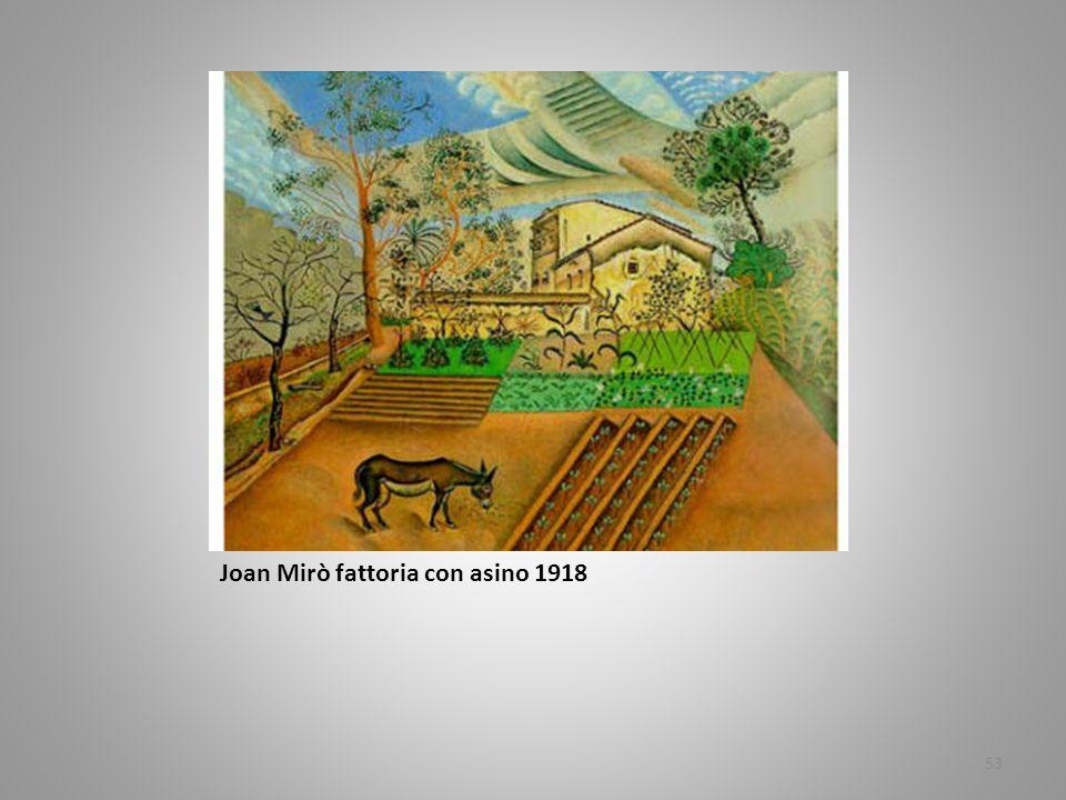 Joan Mirò fattoria con asino 1918 53