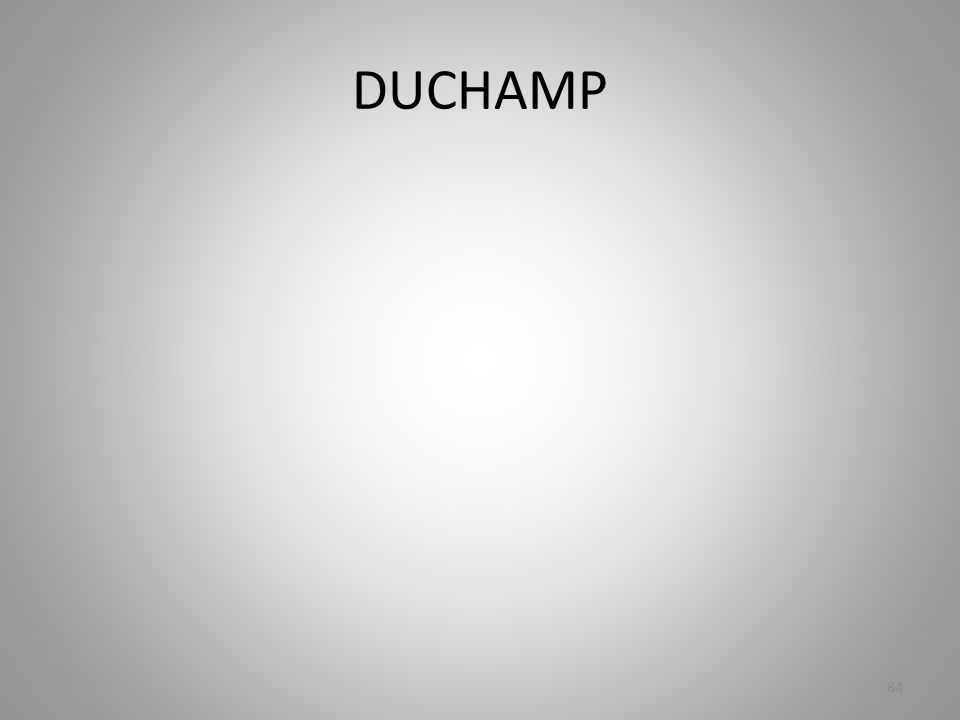 DUCHAMP 84