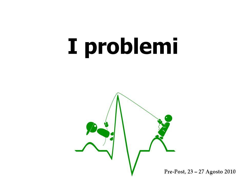 I problemi Pre-Post, 23 – 27 Agosto 2010
