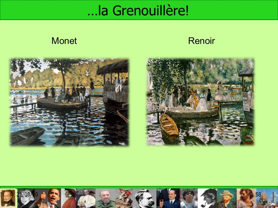 …la Grenouillère! 21/08/1058 MonetRenoir