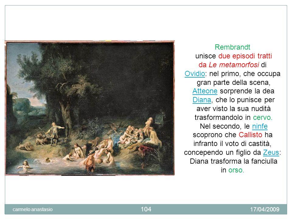 TIZIANO Diana scopre la gravidanza di Callisto. 17/04/2009 carmelo anastasio 105