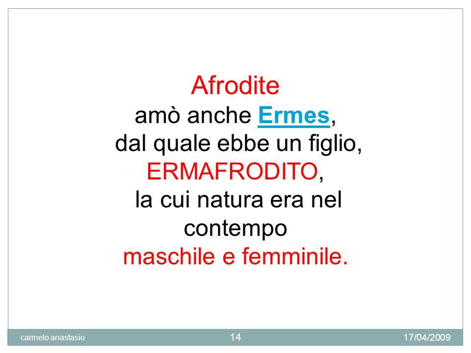 La nascita di Venere La nascita di Venere di Sandro Botticelli, 1485 17/04/2009 carmelo anastasio 15
