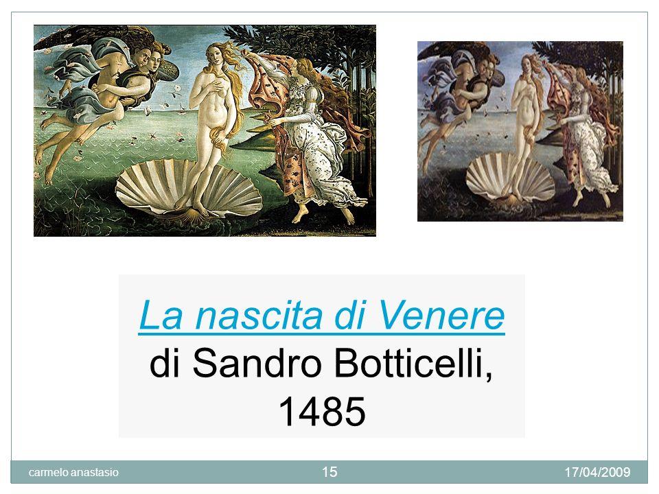 Botticelli, La primavera Tempera su tavola, cm 203x314, datazione incerta (fra il 1477 ed il 1490 17/04/2009 carmelo anastasio 16