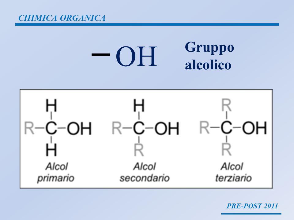 PRE-POST 2011 CHIMICA ORGANICA OH Gruppo alcolico