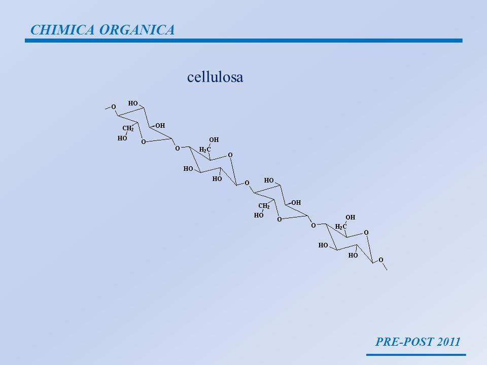 PRE-POST 2011 CHIMICA ORGANICA cellulosa