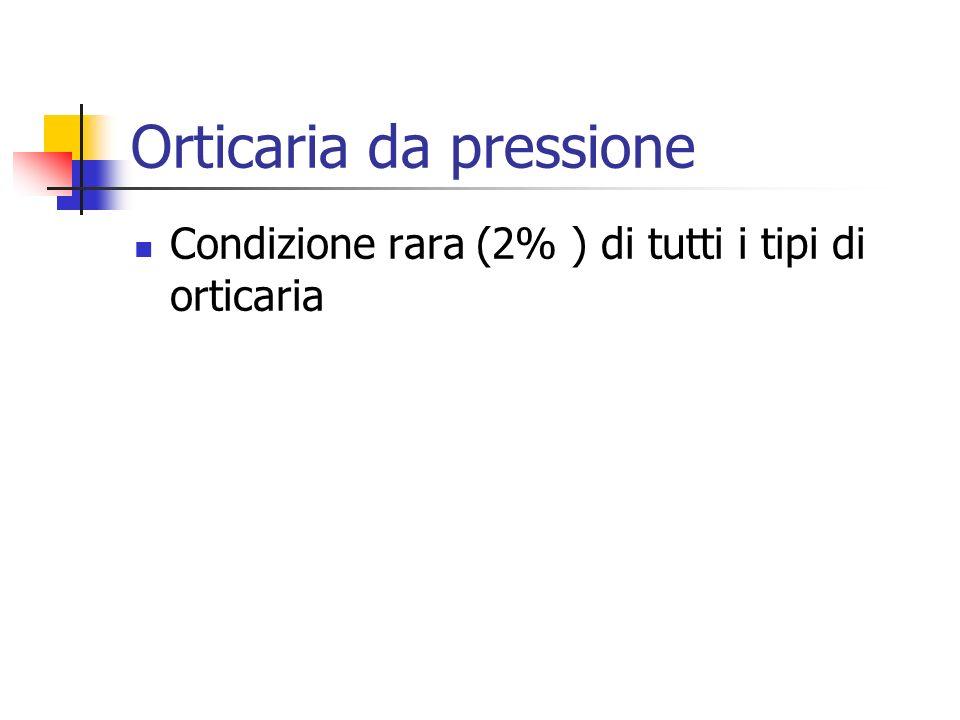 Orticaria da pressione Condizione rara (2% ) di tutti i tipi di orticaria