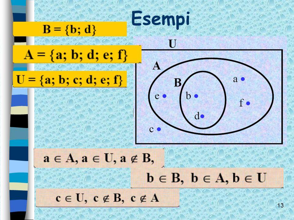 13 Esempi