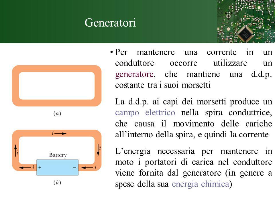 Amperometro e Voltmetro Amperometro: strumento usato per misurare correnti Deve essere connesso in serie.