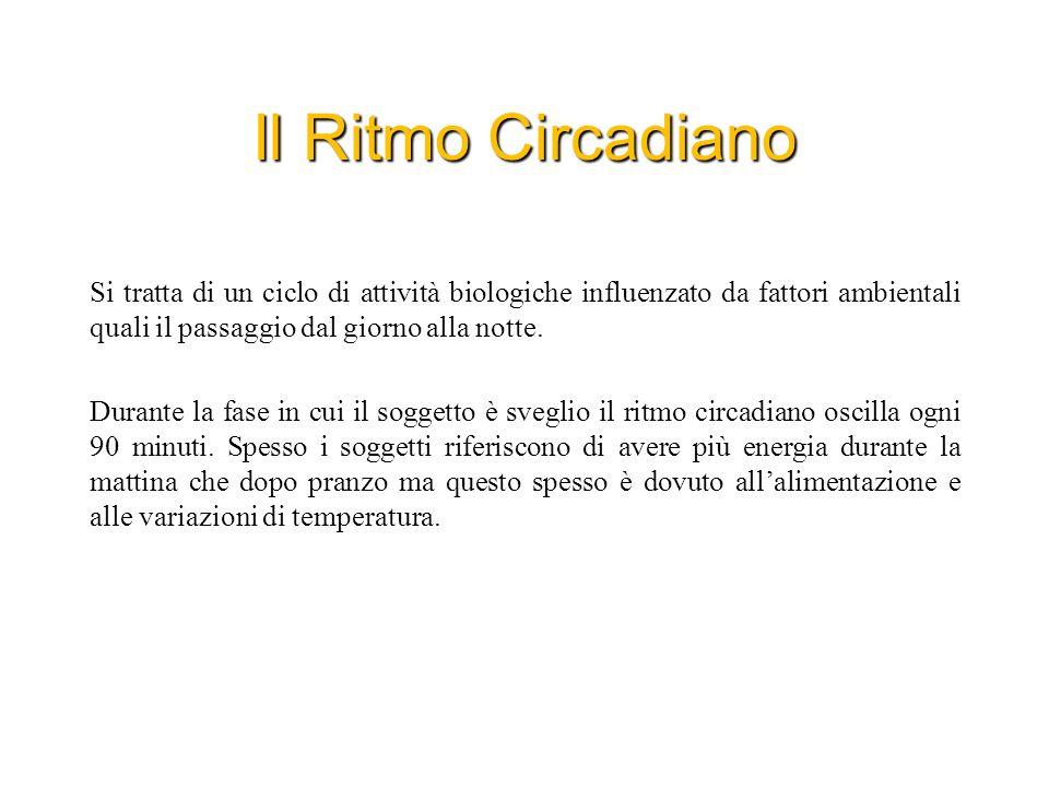 Ritmo Circadiano Fattori determinanti Luce: E considerata il fattore più importante.