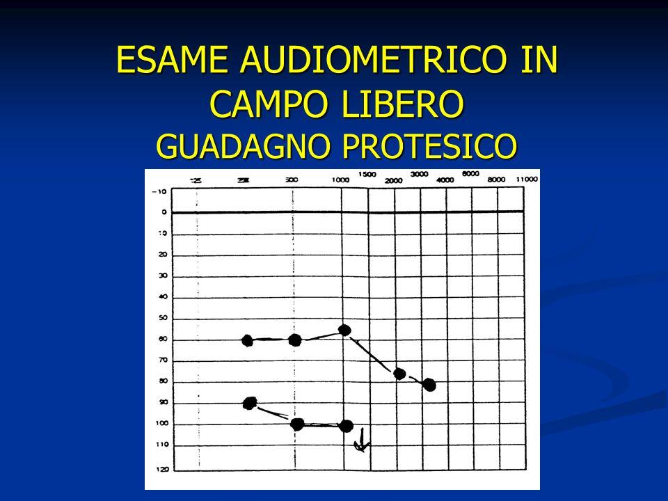 ESAME AUDIOMETRICO IN CAMPO LIBERO GUADAGNO PROTESICO