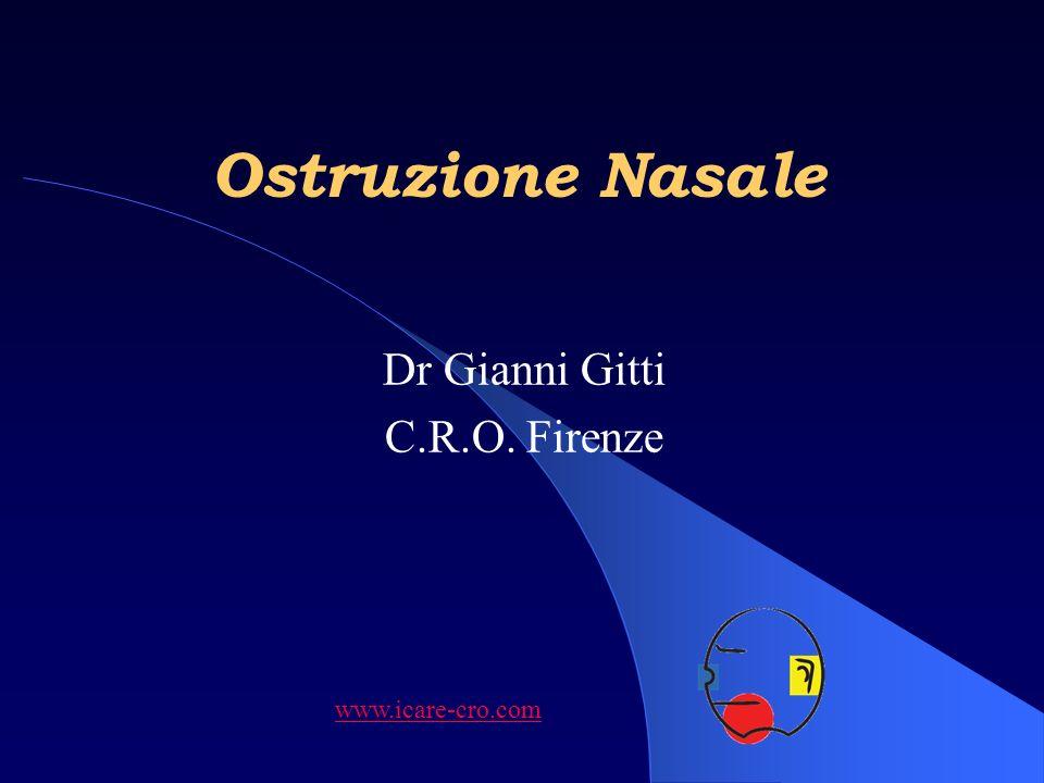 Ostruzione Nasale Dr Gianni Gitti C.R.O. Firenze www.icare-cro.com