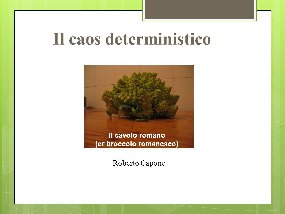 Roberto Capone Il caos deterministico Il cavolo romano (er broccolo romanesco)