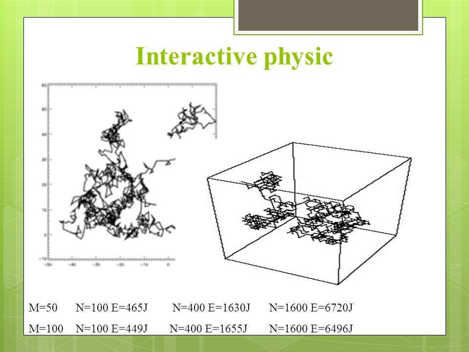 Interactive physic M=50 N=100 E=465J N=400 E=1630J N=1600 E=6720J M=100N=100 E=449JN=400 E=1655J N=1600 E=6496J