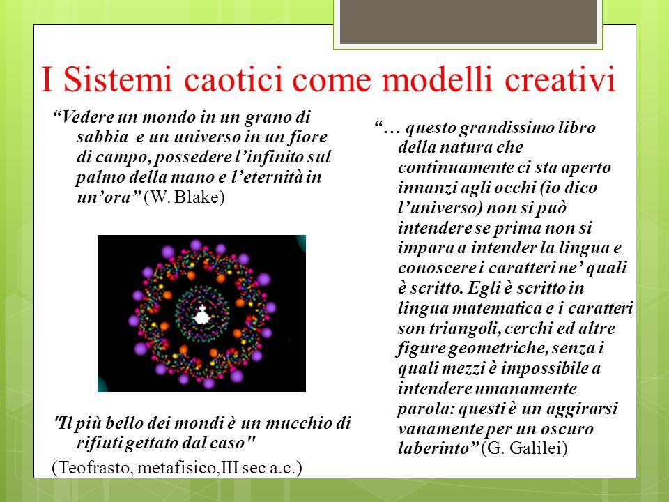I Sistemi caotici come modelli creativi Vedere un mondo in un grano di sabbia e un universo in un fiore di campo, possedere linfinito sul palmo della
