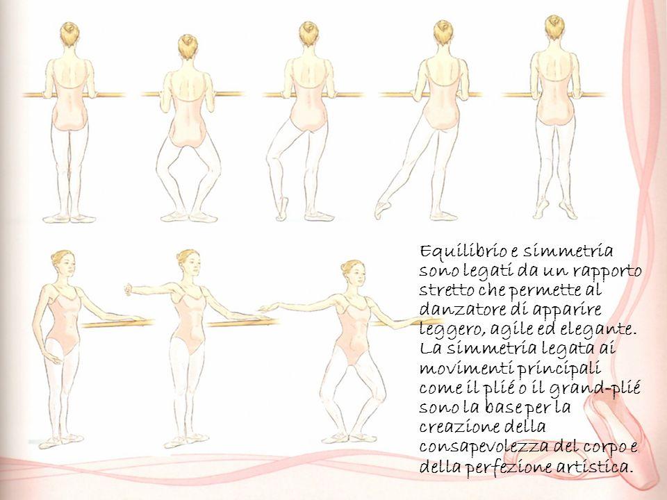 Equilibrio e simmetria sono legati da un rapporto stretto che permette al danzatore di apparire leggero, agile ed elegante.