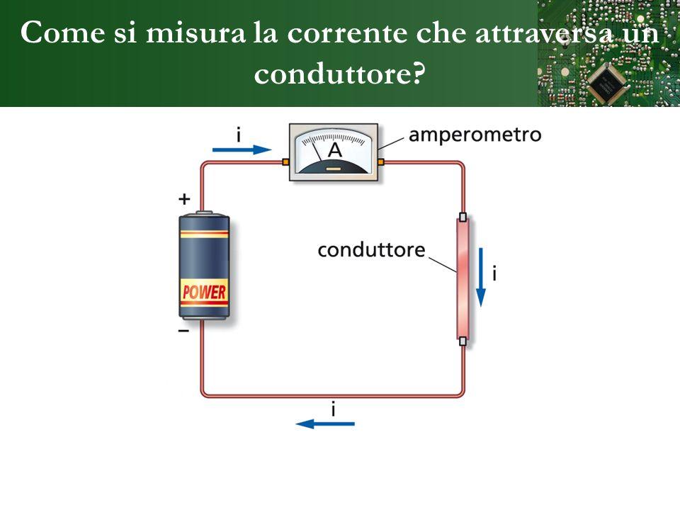 Come si misura la corrente che attraversa un conduttore?