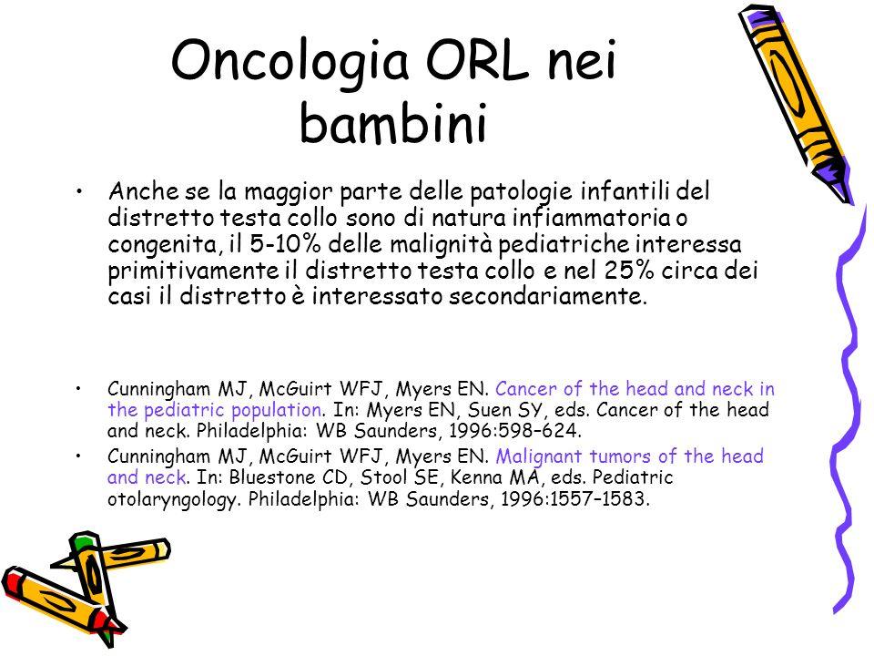 –Storia di tumori in età pediatrica nellanamnesi familiare –Predisposizione genetica allo sviluppo di cancro –Terapia immunosoppressiva Fattori di rischio