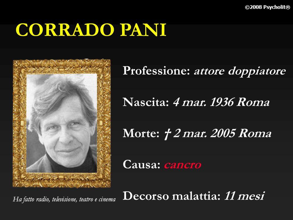 FRANCO BRACARDI Professione: attore, pianista Nascita: 16 mar. 1935 Roma Morte: 27 feb. 2005 Roma Causa: cancro fegato Decorso malattia: mesi Stacchet