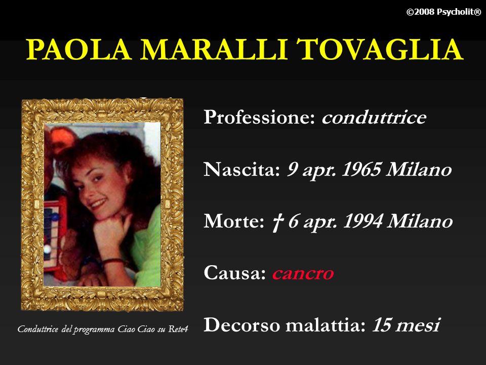 GIULIETTA MASINA Professione: attrice (vedova di Fellini) Nascita: 22 feb. 1920 S.Giorgio di Piano Morte: 23 mar. 1994 Roma Causa: cancro polmoni Deco