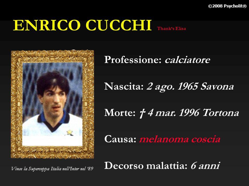 ANDREA FORTUNATO Professione: calciatore Nascita: 26 lug. 1971 Salerno Morte: 25 apr. 1995 Perugia Causa: leucemia Decorso malattia: 13 mesi Calciator