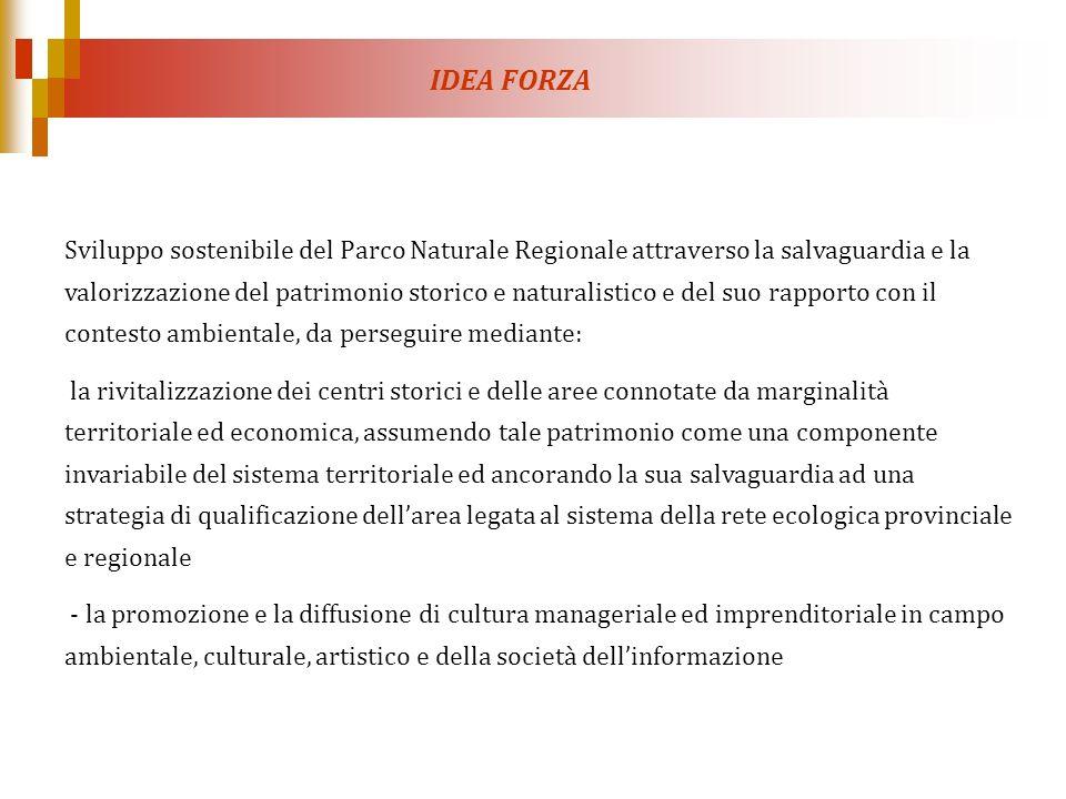 IDEA FORZA Sviluppo sostenibile del Parco Naturale Regionale attraverso la salvaguardia e la valorizzazione del patrimonio storico e naturalistico e d